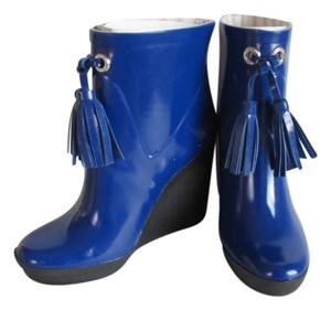 Coach Rain Rubber Blue Boots