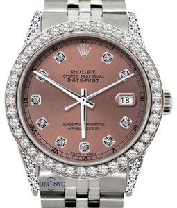 Rolex 36MM ROLEX DATEJUST 5CT DIAMOND WATCH W/ ROLEX BOX&APPRAISAL
