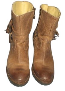 Justin Boots Leather Cowboy brown Boots