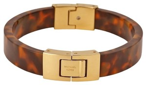 Michael Kors Hinged Tortoise-shell Bangle Bracelet