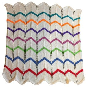 Hand Made Wrap, Baby Blanket Multi Color Acrylic New!