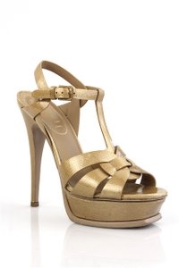 Saint Laurent Gold Platforms