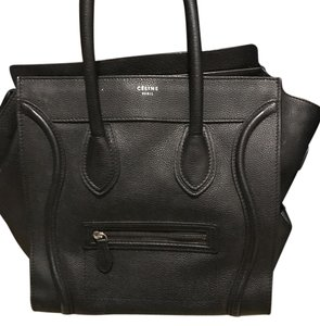 Céline Black Calfskin Mini Luggage Tote