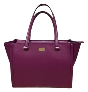 Kate Spade Leather Tote in Purple