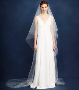 J.Crew Ivory Long Twigs & Honey Cathedral Bridal Veil