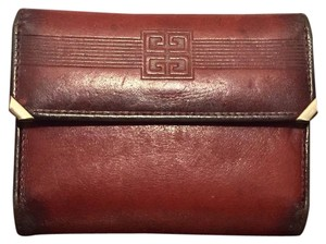 Givenchy Vintage Givenchy Red Leather Card Holder Wallet