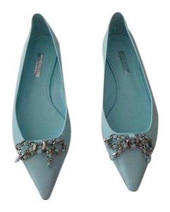 Casadei Stylish Incredibly Soft Lovely Color Made In Italy Aquamarina Flats