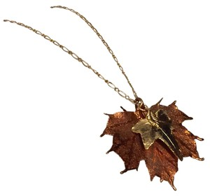Malin Mali 14k Yellow Gold Filled Leaf Pendant Necklace Chain