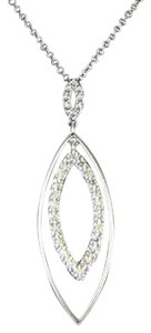 Hearts on Fire Hearts On Fire Reflection Marquee Necklace 0.80cts Diamond 18k W Gold