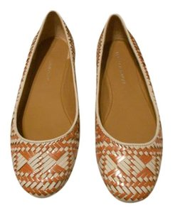 Rebecca Minkoff Sophisticated Versatile Colors Comfortable Made In Brazil White/Coral Flats