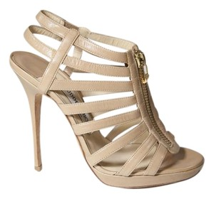 Jimmy Choo Caged Nude Sandals