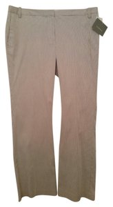 Liz Claiborne Stretch Cotton Boot Cut Pants Grey/White Pinstripe