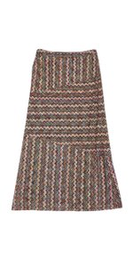 Trina Turk Multi Colored Patterned Knit Maxi Skirt