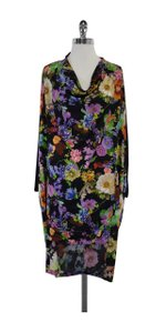 JF & Son short dress Black Floral Print on Tradesy