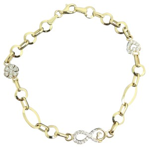 Other 14K Yellow Gold CZ Infinity Bracelet
