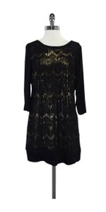 Ella Moss short dress Black Gold Lace on Tradesy