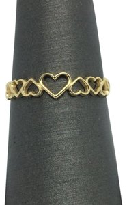 Other 14k Yellow Gold Open Hearts Ring