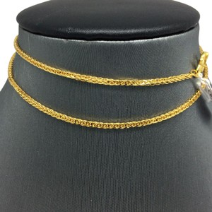 24K Solid Gold Foxtail Chain