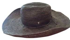 Kaminski from Australia Kaminski woven dark brown straw hat