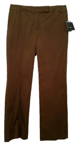 Liz Claiborne Cotton Stretch Boot Cut Pants Chocolate Brown
