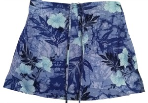 Rue 21 Skirt blue tropical floral