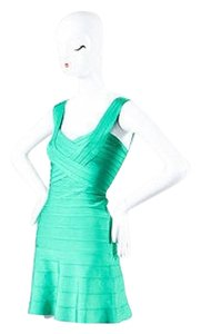 Hervé Leger Kelly Bandage Sleeveless Flare Bodycon Mini Dress