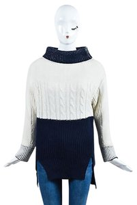 Prabal Gurung Cream Navy Sweater
