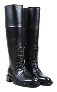 Lanvin Leather Lace Black Boots