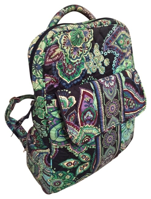 Item - Blue and Green Cotton Backpack