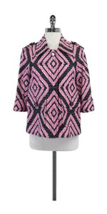 Tory Burch Pink Black & White Cotton Jacket