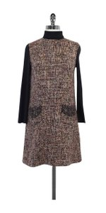 Dolce&Gabbana short dress Grey Pink Tweed Turtleneck on Tradesy