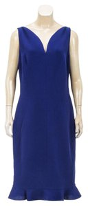 Oscar de la Renta short dress Blue on Tradesy