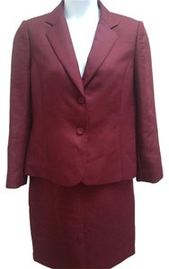 Calvin Klein Purple Quilted 2pc Skirt & Jacket Suit