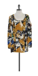 Tory Burch Multi Color Absract Print Top