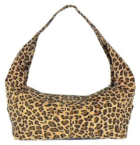 Neiman Marcus Cosmetic Makeup Leopard Hobo Bag