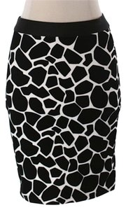 Topshop Pencil Skirt Black and white