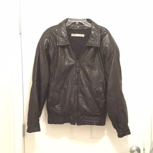 Andrew Marc Leather Bomber Leather Jacket