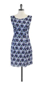 Acne Studios short dress Blue & Purple Abstract Print on Tradesy