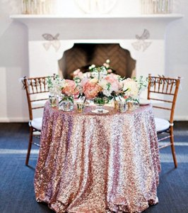 50x 50 Rose Gold Sequin Tablecloth