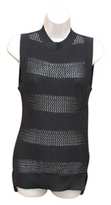 Susana Monaco Open Knit Cotton Sleeveless Sweater