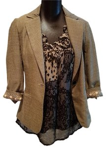 CAbi #923 Tweed Black and Cream Blazer