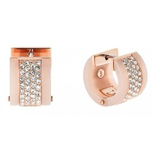 Michael Kors Michael Kors MKJ5094791 Huggies Crystal Hoop Blush Rose Gold Earrings