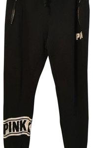 Victoria's Secret Relaxed Pants Black with leather accent pockets