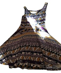 Banana lemon short dress Multi tribal print #dress on Tradesy