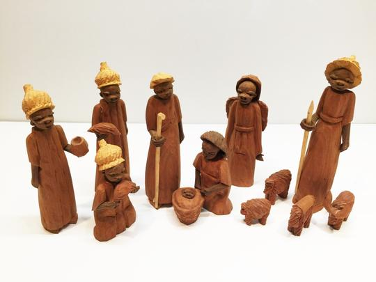 Other African Carved Nativity [ SisterSoul Closet ]