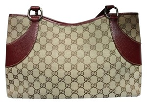 Gucci Satchel in Red and tan