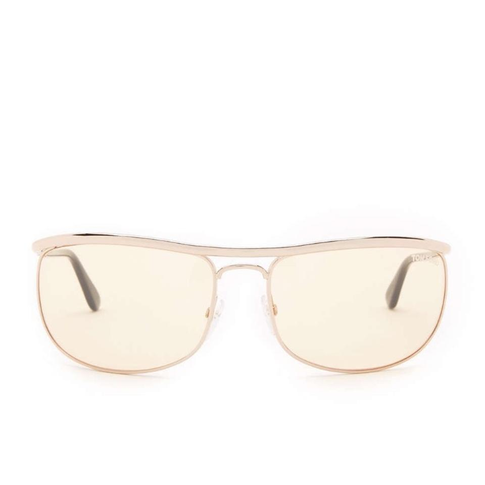 8a059f7d9f0c Tom Ford Rose Gold Yellow Metal Frame Sunglasses - Tradesy