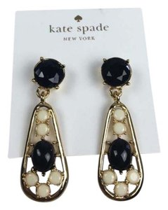 Kate Spade kate spade dangle black cream statement earrings