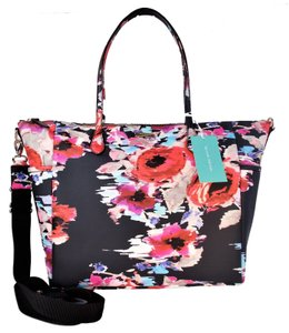 Kate Spade Laurel Floral Print Tote Black Black Multi Diaper Bag