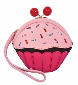 Kate Spade Take The Cake Posie Pouch Pink Wristlet in Cupcake Multi Color